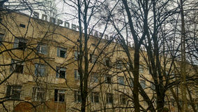 Hospital en Pripyat Imagenes de archivo