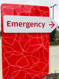 Hospital energency sign Royalty Free Stock Images
