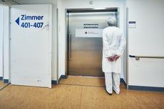 Hospital Entrance Intensive Care Unit Doctor waretnd stock image