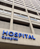 Hospital facade with sign Royalty Free Stock Photos