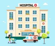 Hospital Flat Design Vector Illustration Stock Image