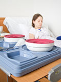 Hospital food tray Stock Photography