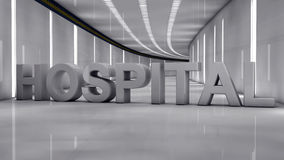 Hospital futurista ilustração stock