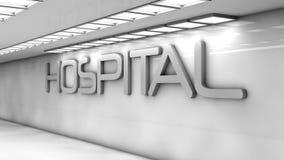 Hospital futurista ilustração royalty free