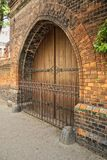 Hospital gate decorated with ironwork - old Prague Stock Photography