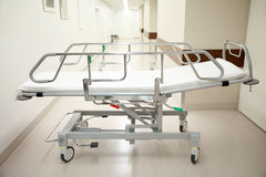 Hospital gurney or stretcher at emergency room royalty free stock photo
