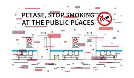 Hospital Hall No Smoking Vector Illustration With Elements Stock Images