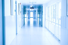 Hospital hallway stock photography