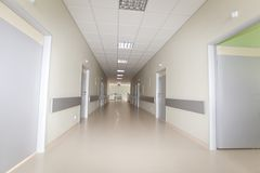 Hospital hallway Stock Images