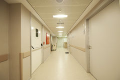 Hospital hallway Stock Photo