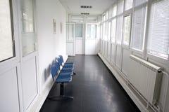 Hospital hallway. Empty hallway in a hospital royalty free stock photos