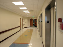 Hospital Hallway. And elevator entrance