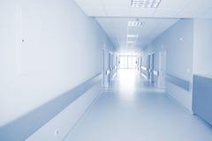 Hospital hallway. Empty hallway in the hospital stock photos