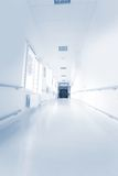 Hospital hallway. White hallway in the hospital stock photography