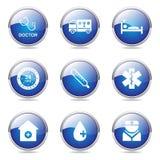 Hospital Health Blue Vector Button Icon Set 2 Stock Photos