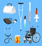 Hospital and health care icons Stock Image