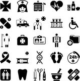 Hospital, Health and Medicine icons Stock Photos
