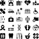 Hospital, Health and Medicine icons Stock Photos