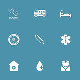 Hospital Health Vector Icon Set 2 Stock Photography