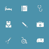 Hospital Health Vector Icon Set Royalty Free Stock Photography