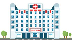 Hospital and healthcare centre concept poster Royalty Free Stock Photo