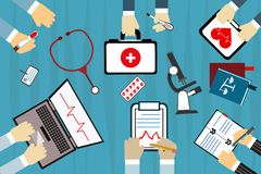 Hospital and healthcare centre concept poster Stock Image