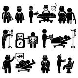 Hospital and healthcare icons concept poster Royalty Free Stock Image