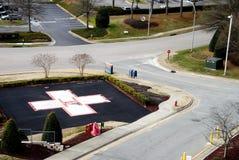 Hospital Helipad. A Hospital Helipad at a medical trauma center Stock Photography