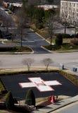 Hospital Helipad. A Hospital Helipad outside of a medical trauma center royalty free stock photo