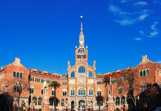 Hospital of the Holy Cross and Saint Paul in Barcelona Royalty Free Stock Photography