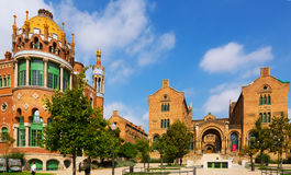 Hospital of  Holy Cross and Saint Paul in Barcelona Stock Images