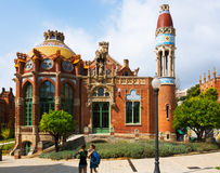 Hospital of the Holy Cross and Saint Paul in Barcelona Royalty Free Stock Images
