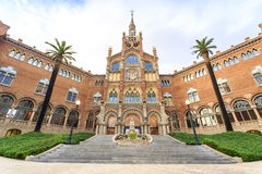 Hospital of the Holy Cross and Saint Paul by A. Gaudi, Barcelona royalty free stock images