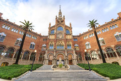 Hospital of the Holy Cross and Saint Paul by A. Gaudi, Barcelona royalty free stock image