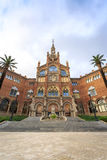 Hospital of the Holy Cross and Saint Paul by A. Gaudi, Barcelona stock photo