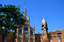Hospital of the Holy Cross and Saint Paul, Hospital de la Santa Creu i de Sant Pau, Barcelona, Catalonia, Spain. UNESCO World Heritage Site Stock Photo