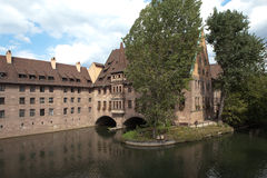 Hospital of the Holy Spirit. Nuremberg. Germany. Royalty Free Stock Image