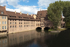 Hospital of the Holy Spirit. Nuremberg. Germany. Royalty Free Stock Images