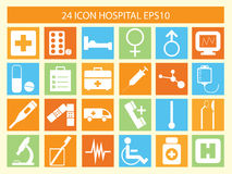 Hospital icon. Of computer and web design Stock Photos
