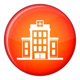 Hospital icon, flat style Royalty Free Stock Photography