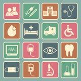 Hospital icon. Set of Hospital icon Stock Images