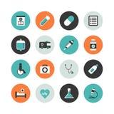Hospital icon. Set of hospital icon, isolated on white background Royalty Free Stock Photos