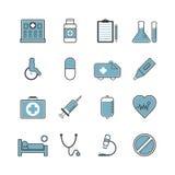 Hospital icon. Set of hospital icon,  on white background Stock Images