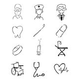 Hospital icons Stock Images