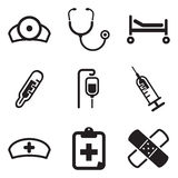 Hospital Icons Stock Photography