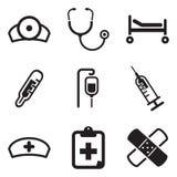 Hospital Icons Stock Photography