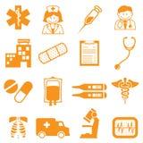 Hospital Icons Royalty Free Stock Photo
