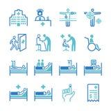 Hospital icons set. Flat Design Illustration: Hospital icons set stock illustration