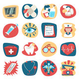 Hospital icons set Royalty Free Stock Photos