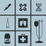 Hospital Icons. Set of icons on a theme Hospital Royalty Free Stock Photography